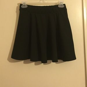 High waist skater mini skirt
