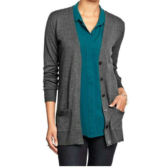 Old Navy - Old Navy - Dark Gray Boyfriend Cardigan from Lindsey's ...