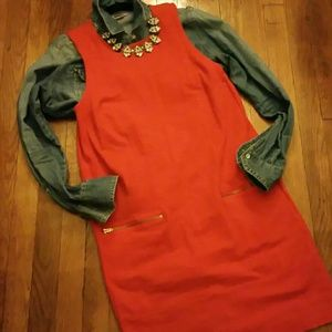 MADEWELL A-line fitted dress