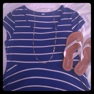 Blue and white striped dress. Size XL