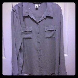 14th & Union Tops - 14th & Union sheer oversized blouse (Nordstrom)