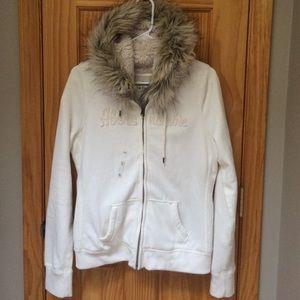 Abercrombie fur lined hoodie