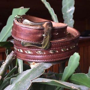 Vintage Justin Leather Belt