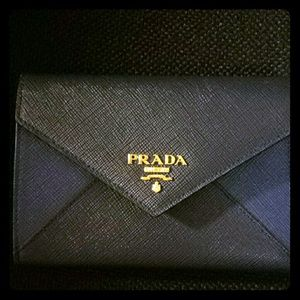 Prada Bags | Wallets - on Poshmark - Prada clutch cornflower blue