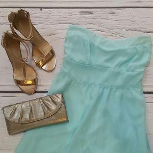 Pretty Rebellious  Dresses & Skirts - FLASH SALE Strapless Mint Chiffon High-Low Dress