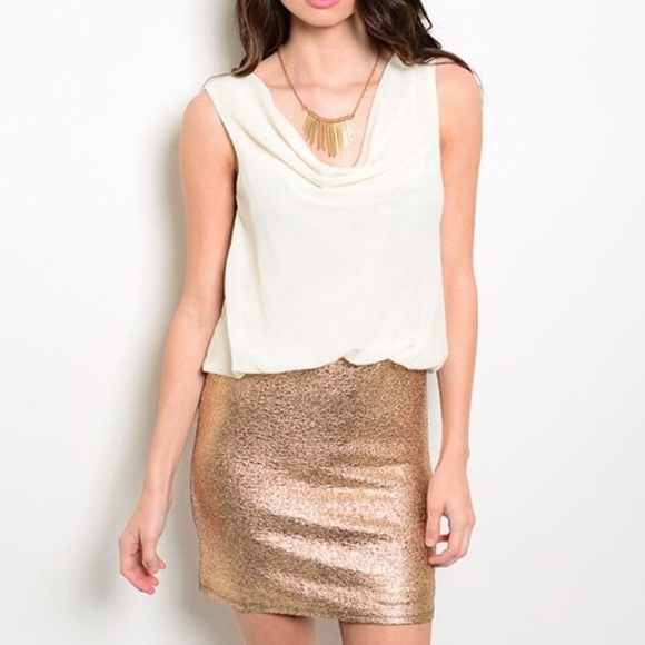 Dresses & Skirts - Golden Shimmer Dress