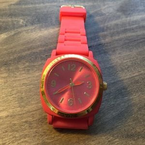 Anthropologie melon colored watch