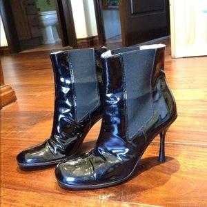 D&G Shoes - Dolce &Gabbana Black Patent Leather Boots.