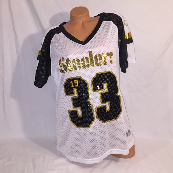 e39af0d7 VS PINK Bling Pittsburgh Steelers Jersey Top NWT