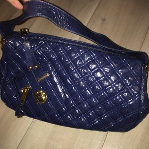 Blue patent leather quilted Marc Jacobs bag