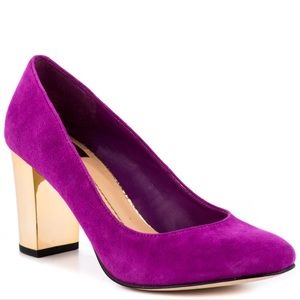 Dolce vita pink pumps with beautiful GOLD heel!
