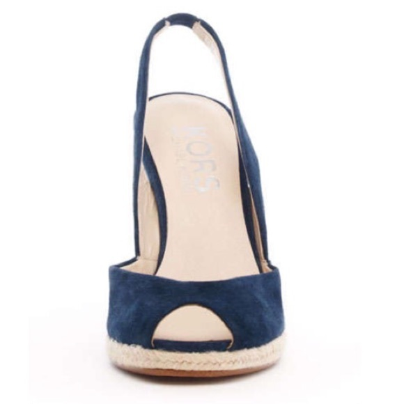 072e2309dee Kors by Michael Kors blue Vivian sling back wedge.  M 56bc0f4999086a9703007743