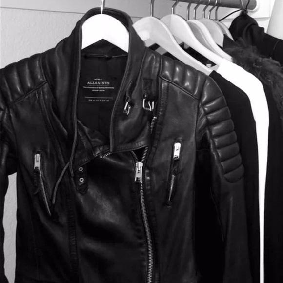 bd6d9679ceb09 All Saints Steine leather biker jacket