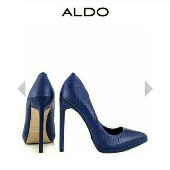 1b5e2a88d862 ALDO Shoes - Kristina Aldo Blue Heels