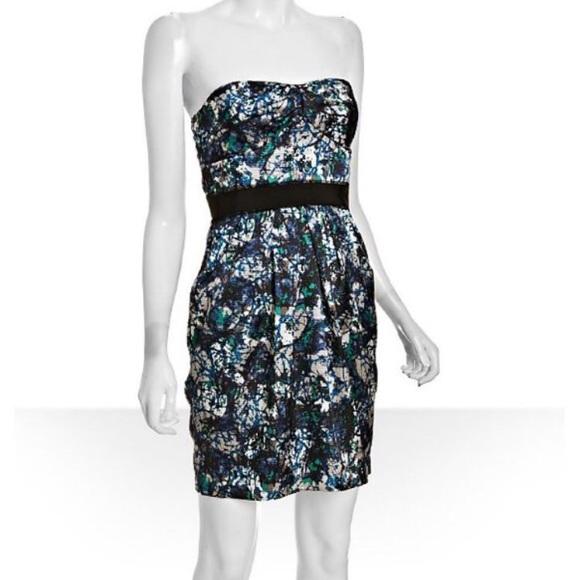 Ocean Blue Strapless Dress