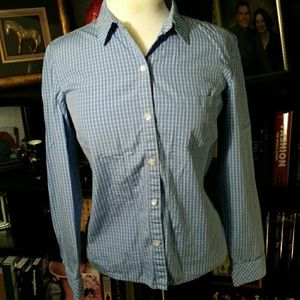 Ann Taylor blue button down
