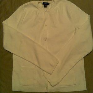 Hot Sale J. Crew white cardigan sweater size L