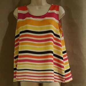 Multi color casual summer top