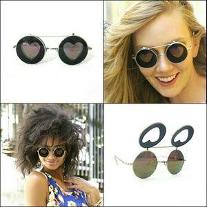 Accessories - SALE! FINAL! Flip Up Heart Sunglasses