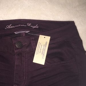 American Eagle Outfitters Denim - American eagle dark maroon regular Jeans