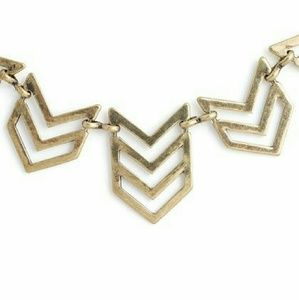 Jewelmint Gold Chevron Necklace