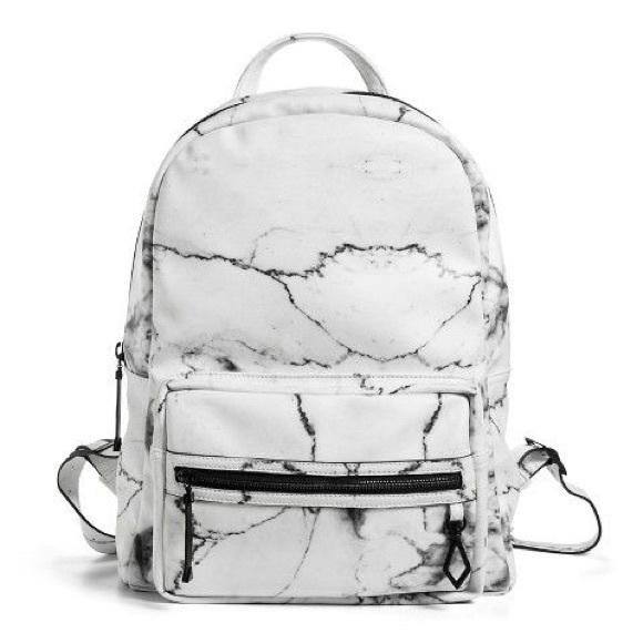 Bags Eddie Borgo For Target Marble White Backpack Poshmark