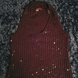 Cute sequined tank top.