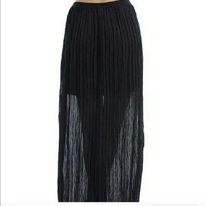 Moon Collection Dresses & Skirts - ✝️LAST ONE Black shear pleated bohemian maxi skirt