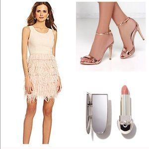 Gianni Bini Feather Dress, size small