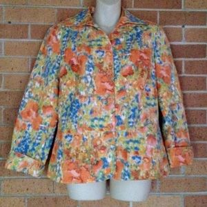 Coldwater Creek Jackets & Blazers - Coldwater Creek watercolor floral Blazer Jacket