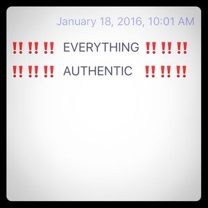 Everything is authentic‼️‼️❣