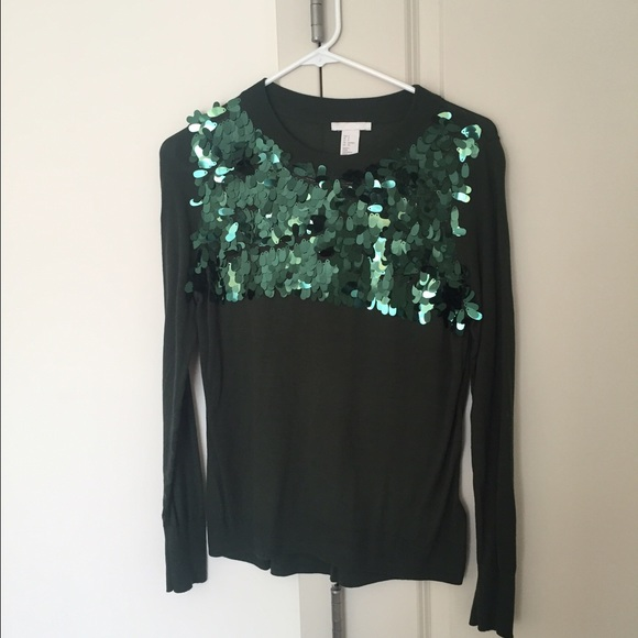 60% off H&M Sweaters - H&M Green Sequin Sweater from The second ...