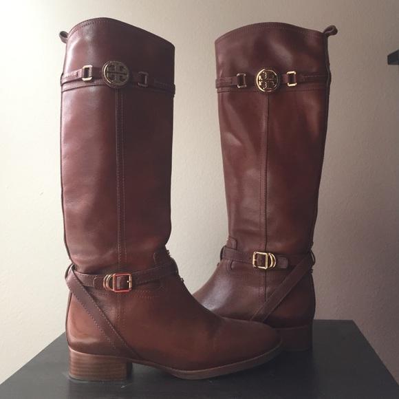 62b79834af3f Tory Burch Calista Riding boots in Almond Brown. M 569d1b5f47da8101d6059138