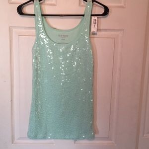 Old Navy Sequin Tank Top NWT