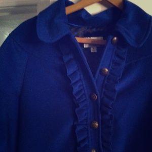 ALICE by Temperley Jackets & Blazers - Alice Temperley blue crushed velvet coat