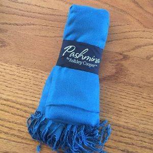 Ashley Cooper Accessories - Blue Pashmina