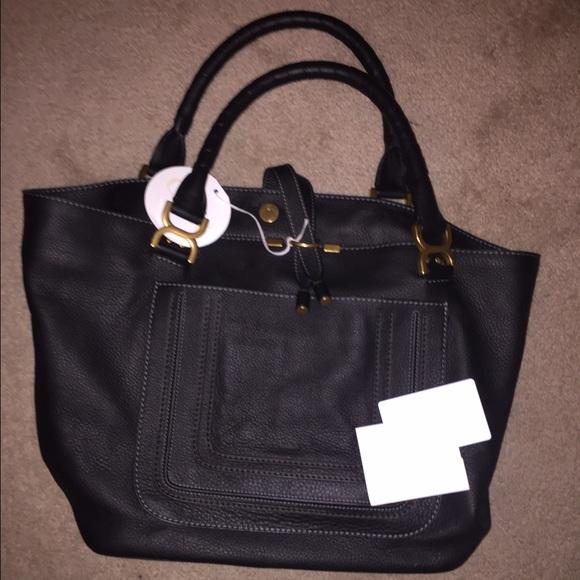 Chloe Marcie Leather tote shoulder bag