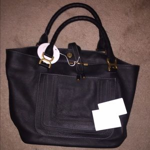 Chloe Marcie Leather tote shoulder bag