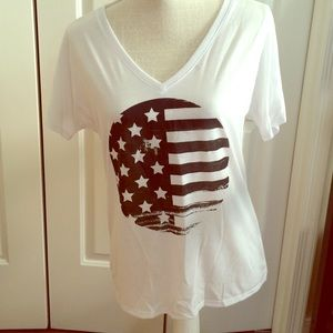 Casual Friday - American Flag Tee - Size Small