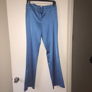 Caché metallic blue dress pants