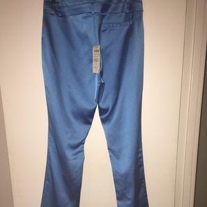Cache Pants & Jumpsuits - Caché metallic blue dress pants