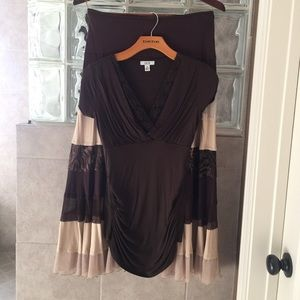 Cache blouse and skirt set