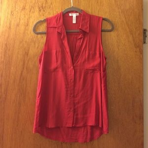 Ambiance Apparel Tops - Red Tank Top