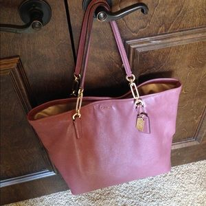 Coach Handbags - Coach Madison N/S Leather Tote