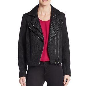 1. State Jackets & Blazers - 1. State Black Tweed Zipper Jacket