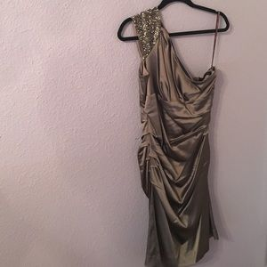 Taupe color dress
