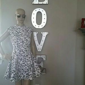Cameo White & Black Skater Dress