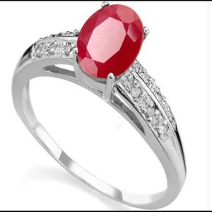 Jewelry - Ruby and Diamond Ring‼️
