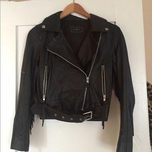 Soft real Leather fringe jacket small