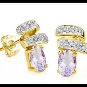 Jewelry - Pink Amethyst and Diamond Earrings‼️
